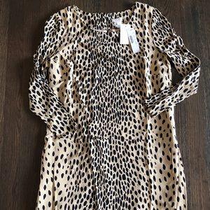 J. Crew leopard size 4 shift dress with pockets.